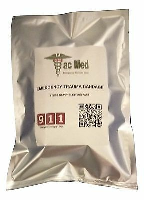 Tac Med Tactical Blood Stopper Pressure Trauma Dressing Bandage IFAK Military