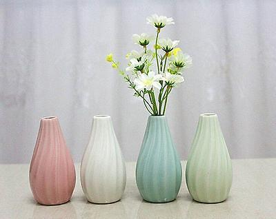 Home Garden Ceramic Pottery Classic Stripe Flower Pot  Plant Office Mini Vase