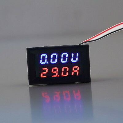 Useful 100V 50A DC Digital Voltmeter Ammeter LED Amp Volt Meter New BY