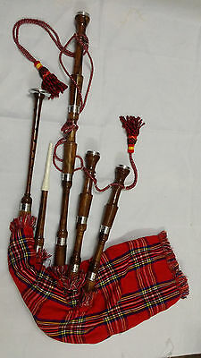 Great Highland Bagpipe Rosewood Silver Mounts/Scottish Bagpipes Free Reed,Drone