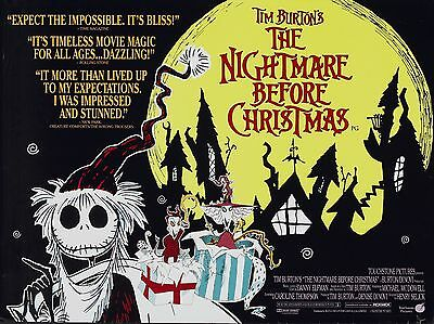 """The nightmare before christmas 16"""" x 12"""" Reproduction Movie Poster Photo 2"""
