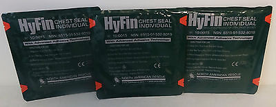 Lots Of 3 NAR Hyfin Chest Seal Individual Dressing Exp 04/2020 New in Packaging