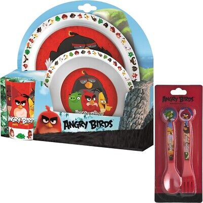 Angry Birds Movie | Red | Chuck Melamine Tumbler, Bowl & Plate Mealtime Set