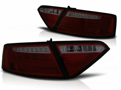 New Set Rear Tail Lights Rhd Ldaue3 Audi A5 2007-06.2011 Coupe Red Smoke Led Bar