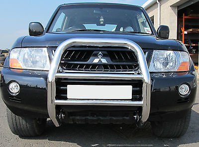 Mitsubishi Shogun 2000-2007 Mk5/6 STX Stainless Steel 70mm Front A-Bar, Bull Bar