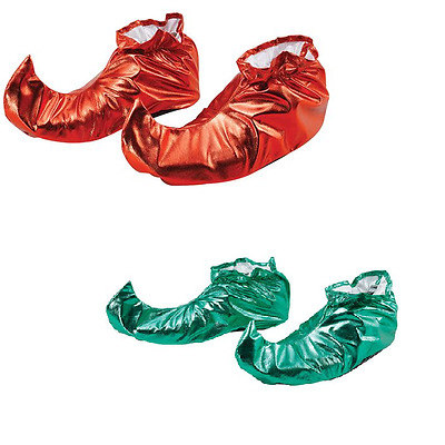 Adults Unisex Elf Shoe Covers Fancy Dress Costume Accessory Christmas Jester