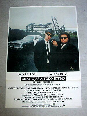 THE BLUES BROTHERS Original CAR Movie Poster JOHN BELUSHI DAN AKROYD JOHN LANDIS