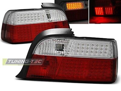 New Set Rear Tail Lights Rhd Ldbm36 Bmw E36 12.1990-08.1999 Coupe Red White Led