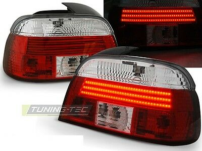 New Set Rear Tail Lights Rhd Ldbm44 Bmw E39 09.1995-08.2000 Red White Led