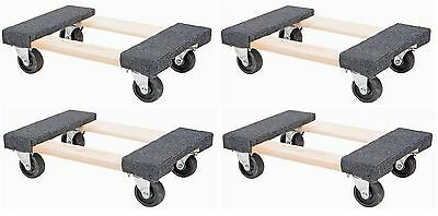 "NEW 4 PACK 1000lb Capacity Mover Furniture Moving Dolly Swivel Caster 12"" x 18"""