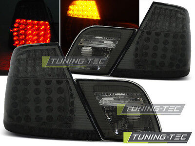 New Set Rear Tail Lights Rhd Ldbm71 Bmw E46 04.1999-03.2003 Coupe Smoke Led