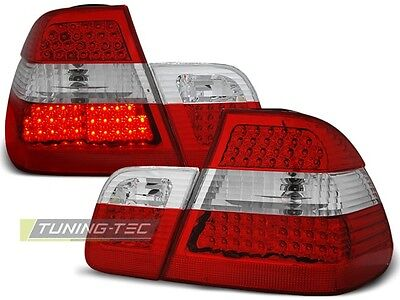 New Set Rear Tail Lights Rhd Ldbm40 Bmw E46 05.1998-08.2001 Sedan Red White Led