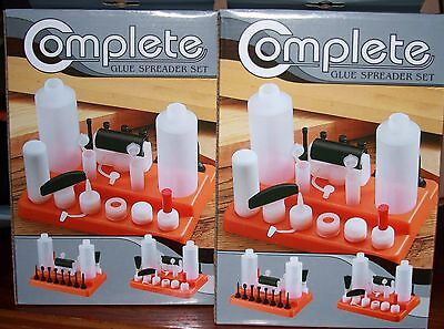 2 - 19 Pc **  2 Bottle ** All-In-One Glue Spreader Applicator Kits