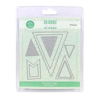 Trimcraft First Edition Metal Paper Card Craft Die Set - Bunting