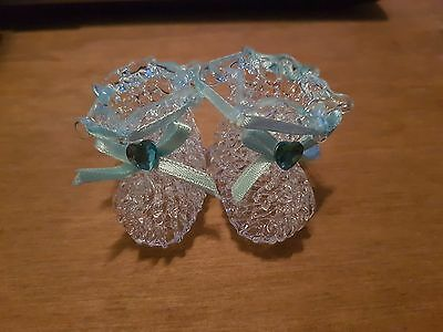 Baby Boy Glass Booties