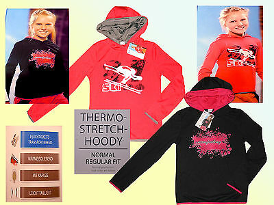 Bambina Sci Termico Felpa Pullover Fitness Sportshirt Stretchshirt 116-152