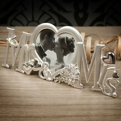 Mr & Mrs Letters Photo Picture Frame Anniversary Wedding Gifts Home Decor