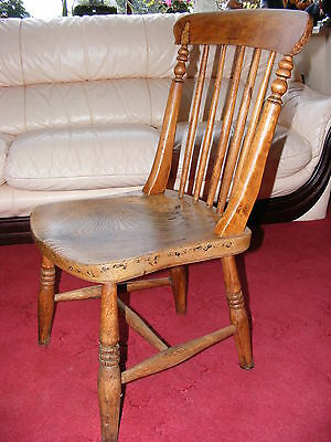 Lovely Vintage Antique Old Solid Wooden Kids Chair