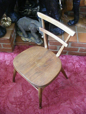 Old Vintage Retro Wooden Ercol School Kids Children Chair for Restoration
