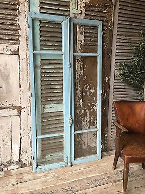 Pair Of Vintage French Rustic Window Frames