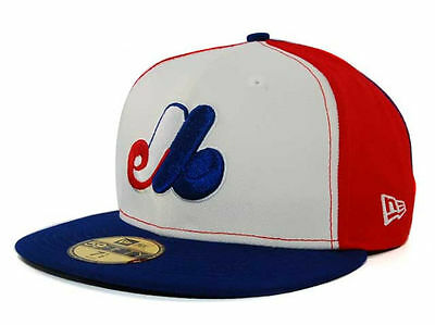 New Era Montreal Expos 59FIFTY MLB Baseball Cap Red Size 7 3/8