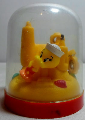 WARNER Bros VTG LOONEY TUNES SAILOR TWEETY BIRD FIGURE - 3'' PLASTIC CASTLE DOME