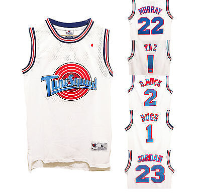 Space Jam Basketball Jersey Looney Tune Squad Jordan Bugs Taz Retro Vintage 90s