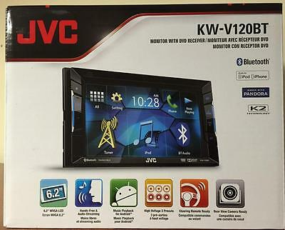 "JVC KW-V120BT 2-DIN Bluetooth In-Dash DVD Receiver w/ 6.2"" Touchscreen Display"