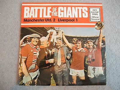 1977 Vinyl LP Record Battle of the Giants Machester Utd v Liverpool FA Cup Final