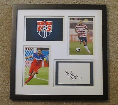 Clint Dempsey Autograph Framed SEATTLE SOUNDERS USA Soccer Autographed Signed