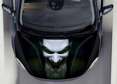 Joker #1 Car Hood Wrap Full Color Vinyl Sticker Decal Fit Any Car