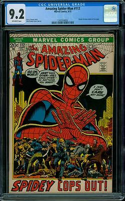 Amazing Spider-Man 112 CGC 9.2 - OW Pages
