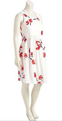 Old Navy Maternity Red And White Flower Dress XL