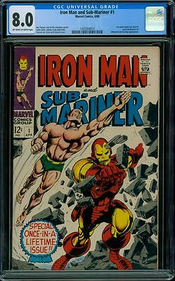 Iron Man and Sub-Mariner 1 CGC 8.0 - OW/W Pages