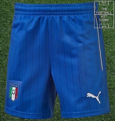 Italy Away Shorts  - Official Puma Boys Football Shorts - All Sizes