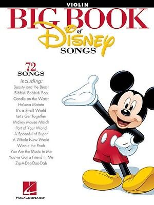 BIG BOOK OF DISNEY SONGS - Violin Sheet Music *NEW* 72 Favourite Movie Hits