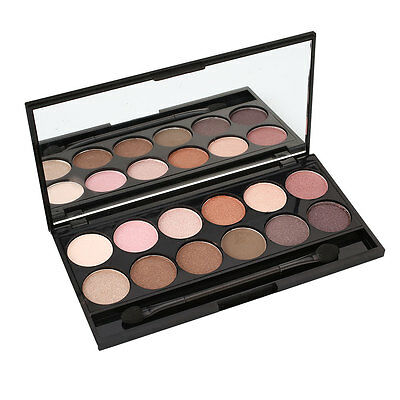 Perfect 12 Colors Eye Shadow Powder Palette Makeup Natural Charms Gift