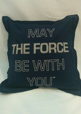 """Pottery Barn Kids Star Wars 16"""" Pillow May The Force Be With You Star Wars Sham"""
