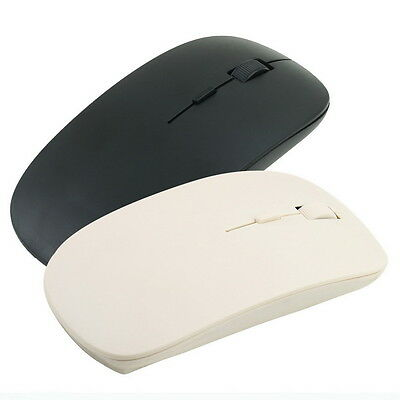 Thin 2.4GHz USB 10m Wireless Optical Mouse Mice for Laptop Computer PC Black OG