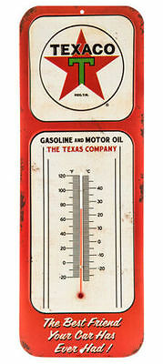 Texaco Thermometer Sign Garage Oil Gas Man Cave Bar Vintage Style