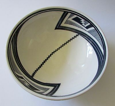 Mimbres Reproduction Large Heavy Stoneware Serving/Display Bowl 13""