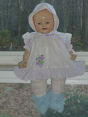 """1920's Baby Dimples Doll EIH Co Inc Horsman Composition 22"""" Redressed - Fix Legs"""