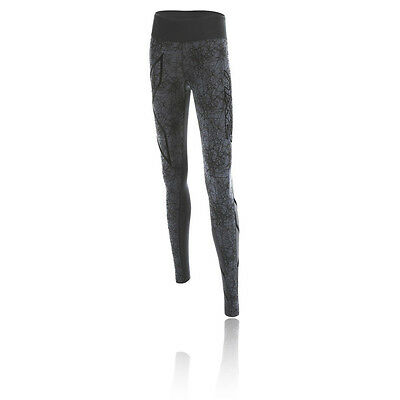 2XU PTN Mid Rise Womens Grey Black Compression Long Tights Bottoms Pants
