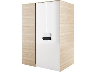 Walk-In Penderie Walkin ' Closet 130 Cm Largeur Chêne Nature /blanc