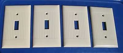 Vintage Old SIERRA ELECTRIC1-Gang Toggle Switch Wall Plate Set of 4 USA