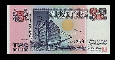 Singapore 2  Dollars ( 1992 ) Fw Pick # 28 Unc Singapore.