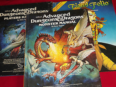 Advanced Dungeons and Dragons Books 1st Ed.
