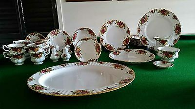 Royal Albert Old Country Rose 8 Piece Dinner Set Plus Extras
