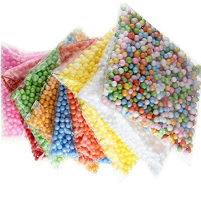 Lots Colourful Crafts Polystyrene Styrofoam Filler Foam Mini Beads Balls Honest