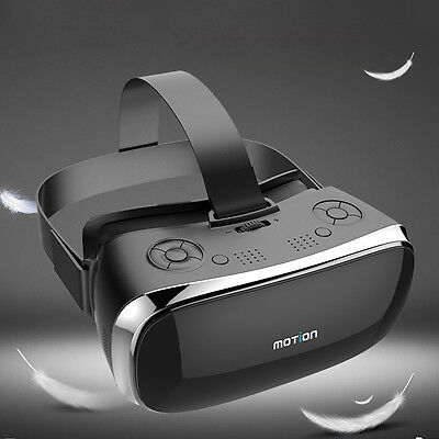 """MOTION V3 All-in-one 3D VR Glasses 5.5"""" IPS HD Screen Headset Bluetooth Gamepad"""